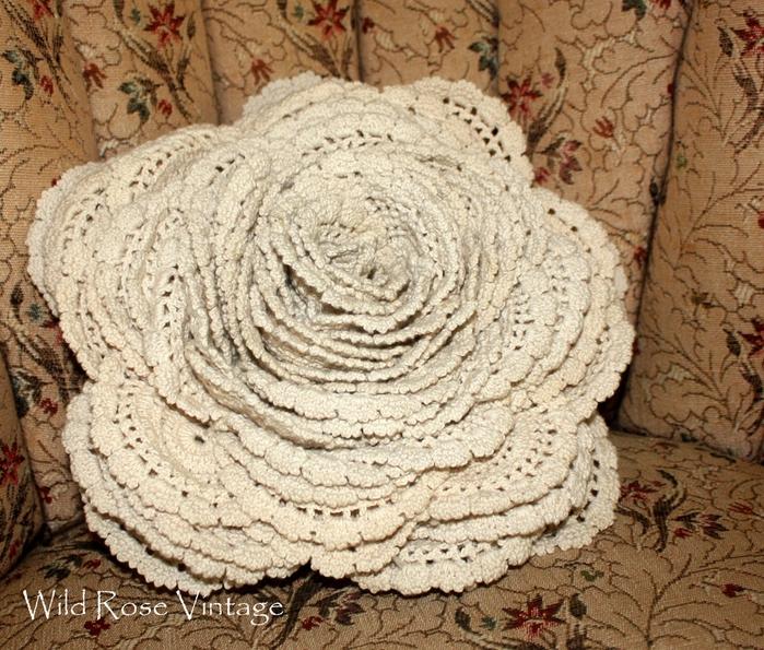 вязание крючком. подушка и