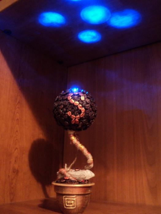 креативный светильник кофейные зерна своими руками