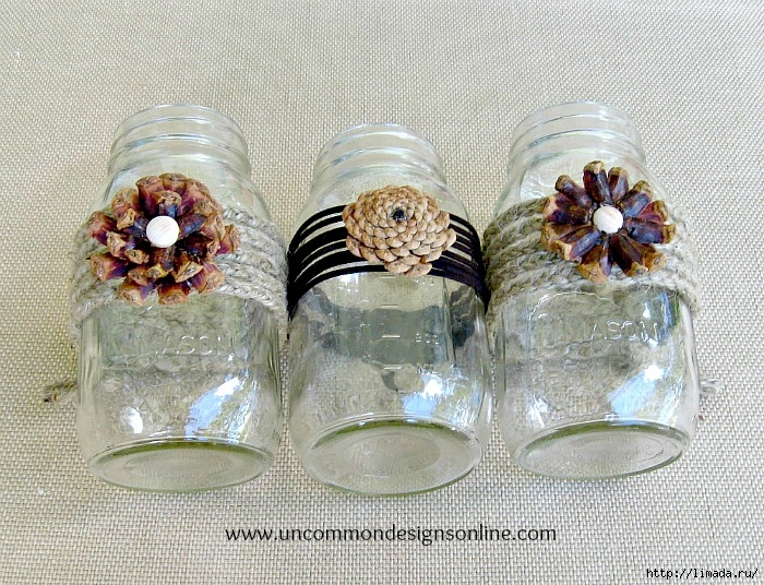Pine-cone-mason-jar-flowers-wm (700x536, 377Kb)