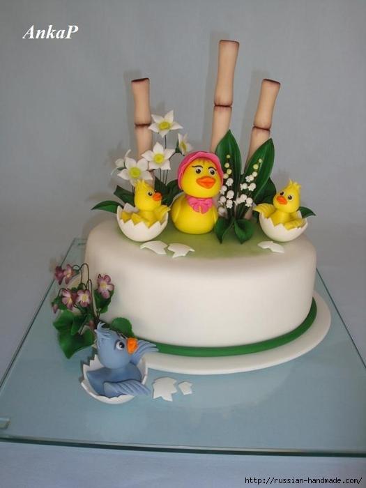 Детский торт из мастики ВЕСНА В КАМЫШАХ (17) (525x700, 161Kb)