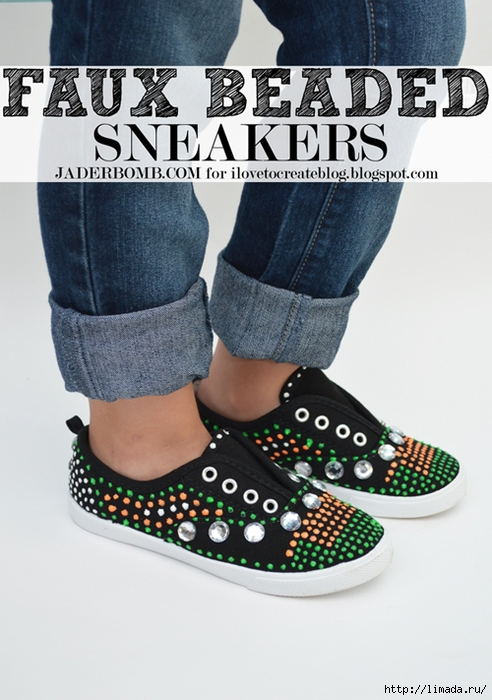 faux beaded sneakers (492x700, 249Kb)