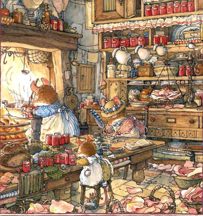 Jill Barclem, Brambly Hedge. Розовое варенье (658x700, 127Kb)