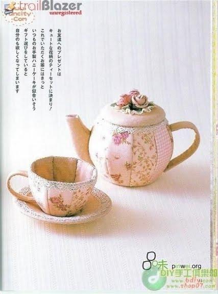 Шьем чайную посуду. Выкройка чайника и чайной чашки