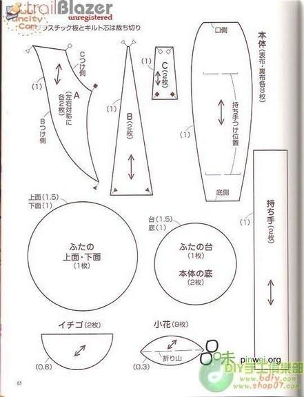 чайная посуда из ткани. выкройка чашки и чайника (9) (441x576, 102Kb)