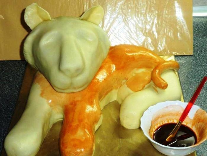 ТИГР - 3D торт из марципана. Мастер-класс (12) (700x528, 237Kb)