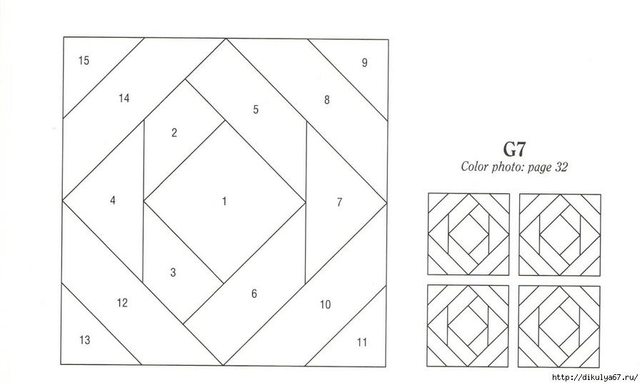 Пэчворк схемы для блоков