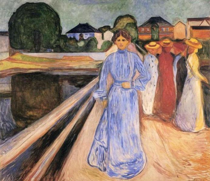 Женщины на мосту, 1902 (692x598, 225Kb)