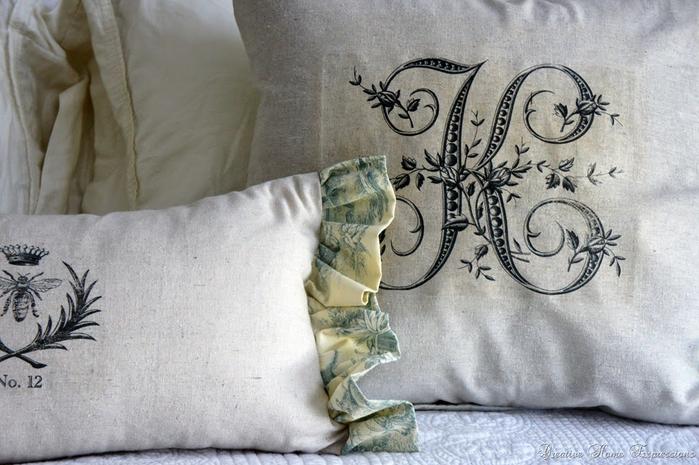 Монограммы на подушках. Шаблоны для переноса на ткань (3) (700x465, 342Kb)