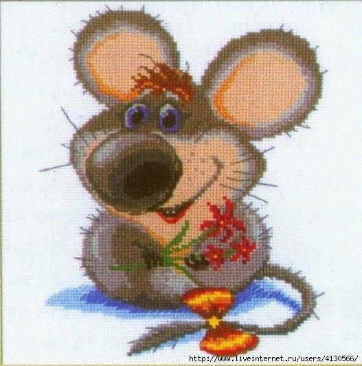 Метки: вышивка мышки и хомячки