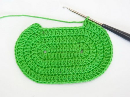 Схема вязания овального