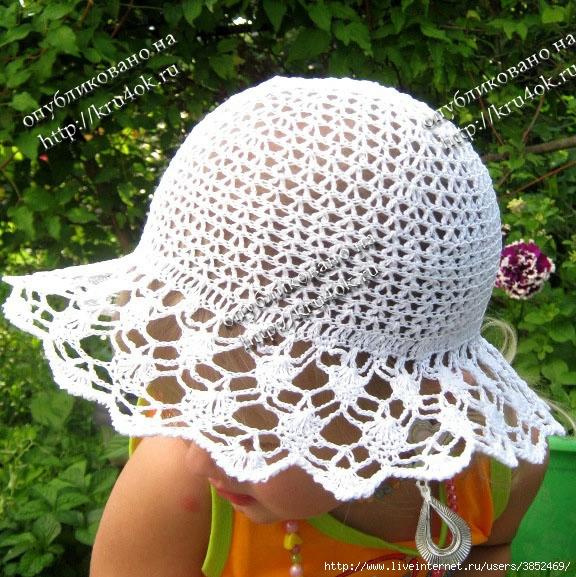 Ажурная шляпка и панамка для девочки (576x577, 292Kb)