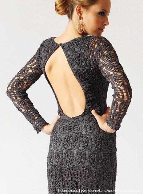Платья с открытой спиной короткие выкройка