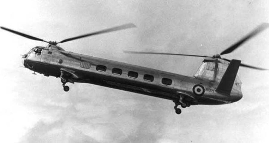 В двухвинтовом вертолете