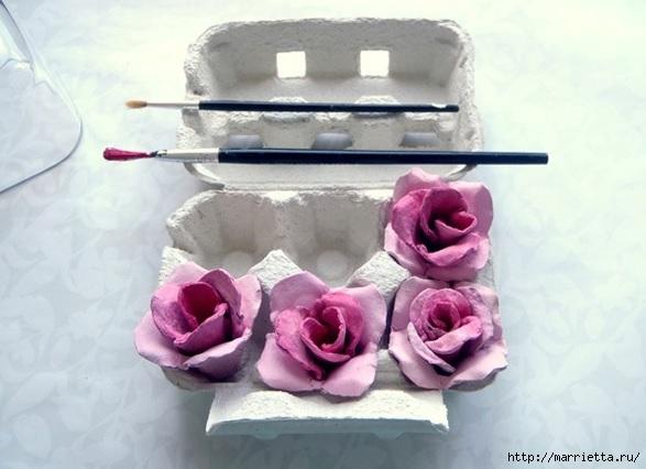 Розы из яичных лотков. Мастер-класс (4) (587x426, 126Kb)