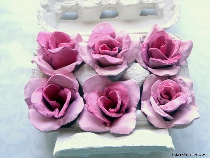 Розы из яичных лотков. Мастер-класс (6) (700x525, 229Kb)