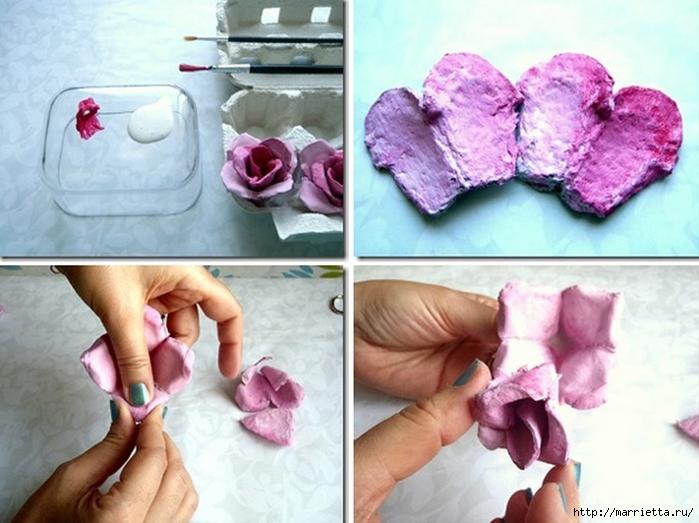 Розы из яичных лотков. Мастер-класс (11) (700x523, 245Kb)