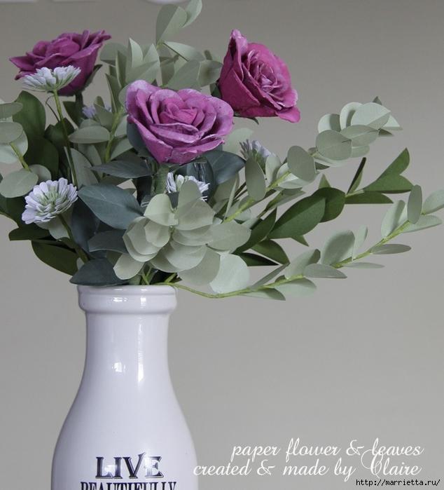 Розы из яичных лотков. Мастер-класс (12) (634x700, 245Kb)