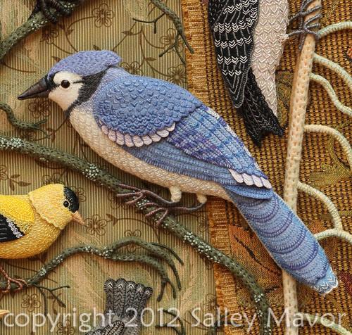 Aves del paraíso de fieltro con bordados (12) (500x476, 340Kb)