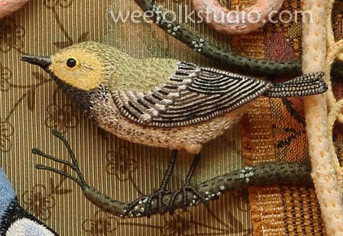 Райские птицы из войлока с вышивкой (28) (500x344, 249Kb)