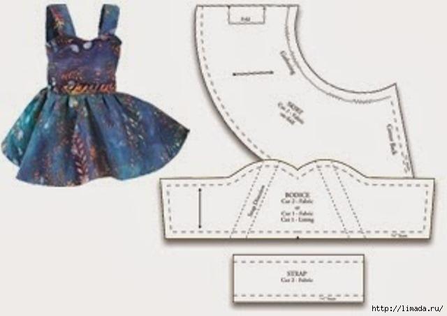 Платье для барби сшить своими руками легкое 436