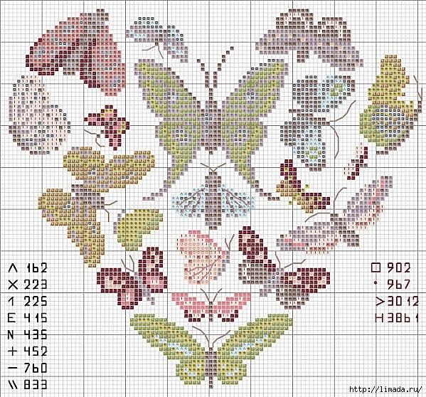 Схема с петушками / Вышивка / Схемы вышивки крестом - Pinterest 47