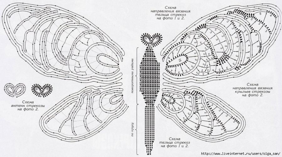 Ирландское кружево схемы стрекоза