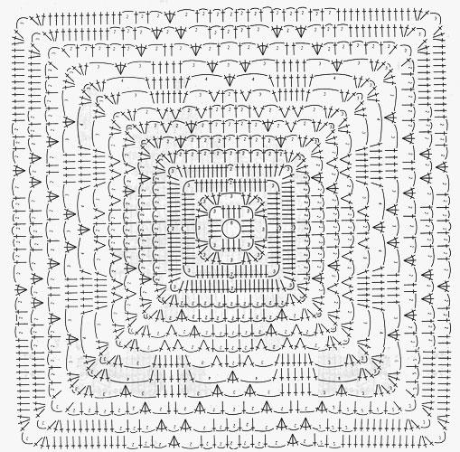 Вязание крючком покрывала схемы на диван