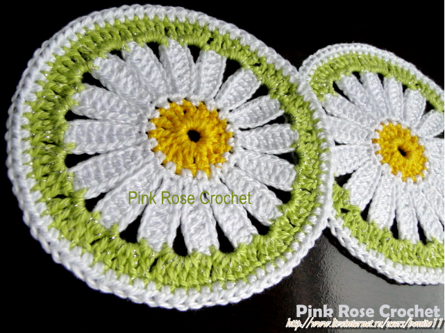 Posavaso Margaritas de Crochet Made by Pink Rose Crochet (641x480, 627Kb)