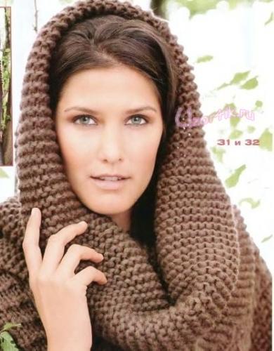Схемы вязание шарф труба крючком.