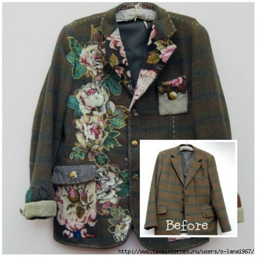 patchwork jackets sweaters on pinterest upcycled clothing recycled sweaters and patchwork. Black Bedroom Furniture Sets. Home Design Ideas