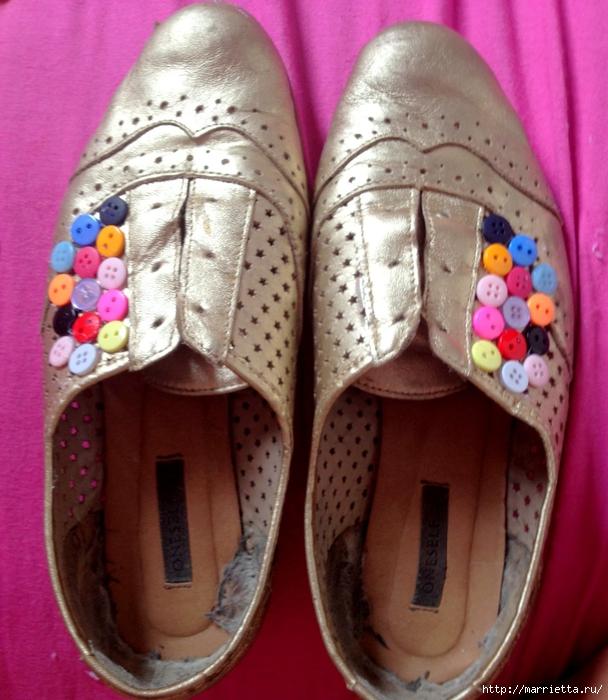 Пуговичные туфельки и другие идеи из пуговиц (20) (608x700, 314Kb)