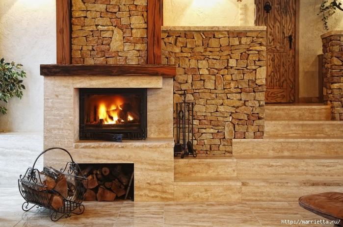 Камин в интерьере. Фотографии стильных дизайнов (13) (700x463, 280Kb)