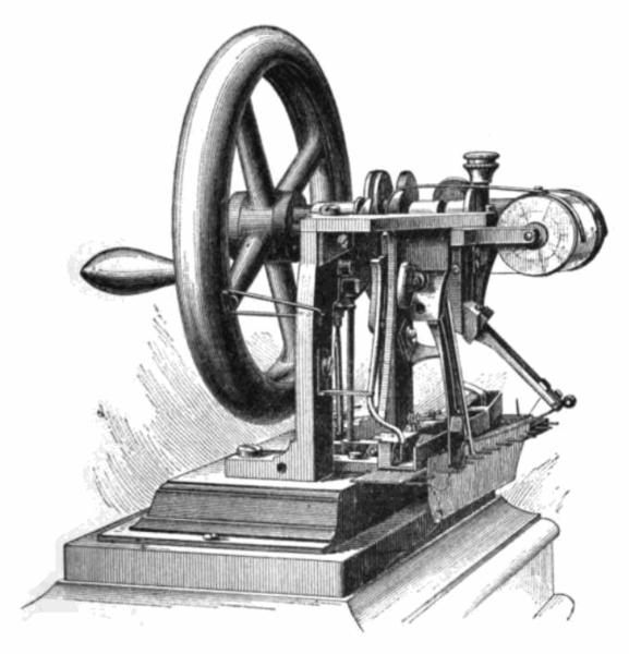 Швейная машина изобретённая Элиасом Хоу в 1845 г.