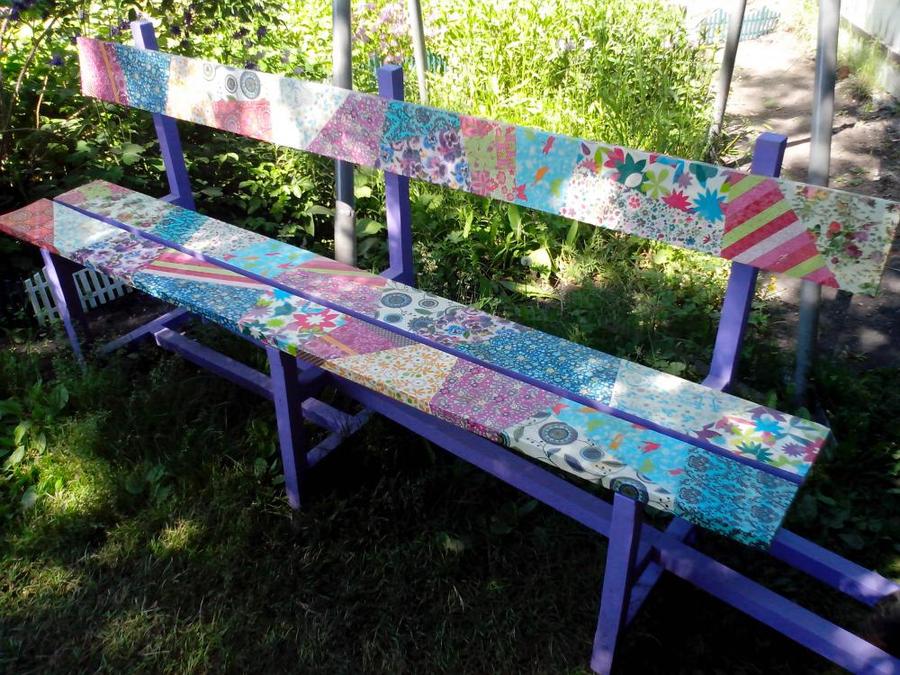 Рисунок на скамейке своими руками 54