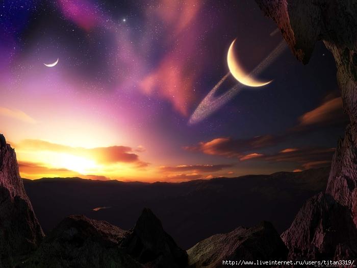 Сатурн со спутника 1 (700x525, 214Kb)