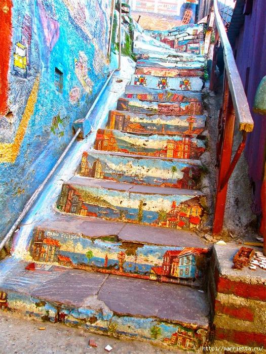Граффити и Street Art. Самые красивые лестницы и ограды (1) (525x700, 477Kb)