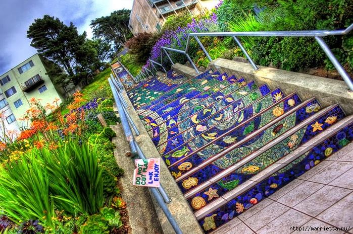 Граффити и Street Art. Самые красивые лестницы и ограды (5) (700x465, 434Kb)