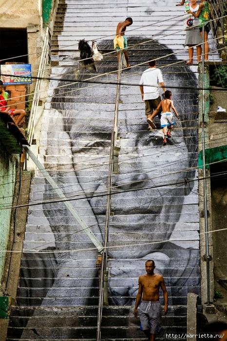 Граффити и Street Art. Самые красивые лестницы и ограды (9) (466x700, 372Kb)