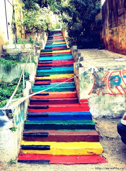 Граффити и Street Art. Самые красивые лестницы и ограды (11) (515x700, 444Kb)