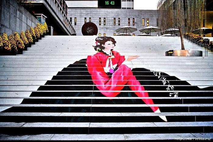 Граффити и Street Art. Самые красивые лестницы и ограды (13) (700x466, 319Kb)