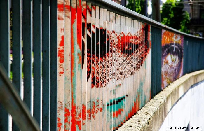 Граффити и Street Art. Самые красивые лестницы и ограды (20) (700x449, 274Kb)
