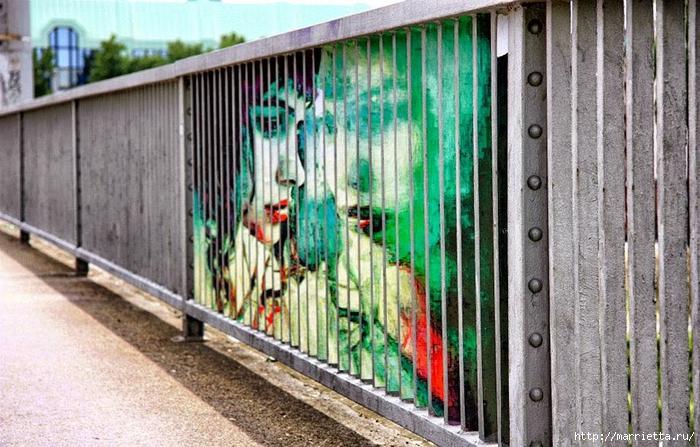 Граффити и Street Art. Самые красивые лестницы и ограды (24) (700x447, 300Kb)