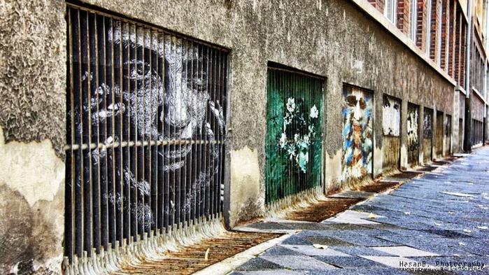 Граффити и Street Art. Самые красивые лестницы и ограды (25) (700x393, 327Kb)