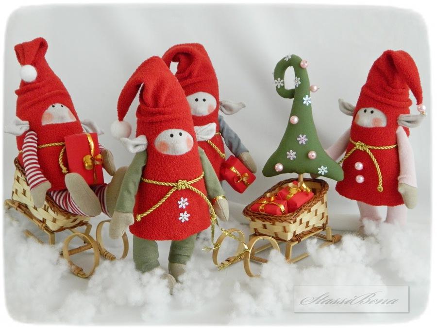 Новогодние гномы своими руками фото