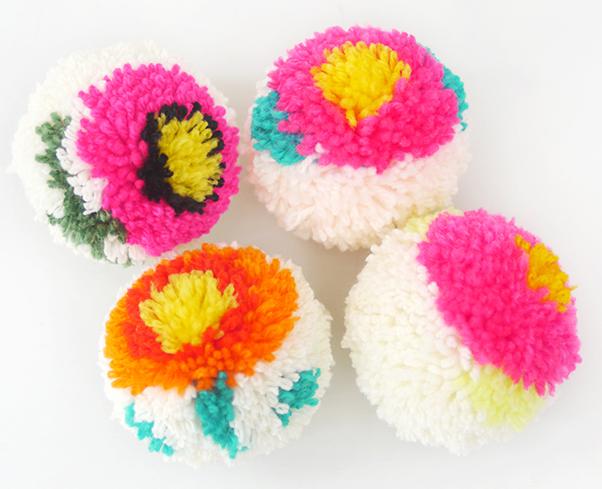 цветы и игрушки из помпонов (1) (602x489, 568Kb)