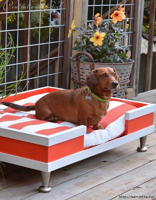 Кроватка в стиле модерн. Для собачки (9) (530x679, 254Kb)