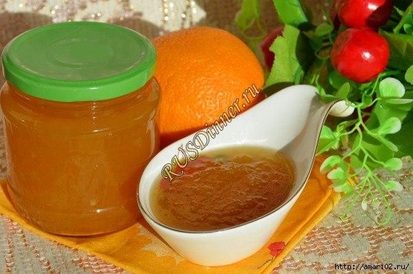 Кабачково-апельсиновое варенье