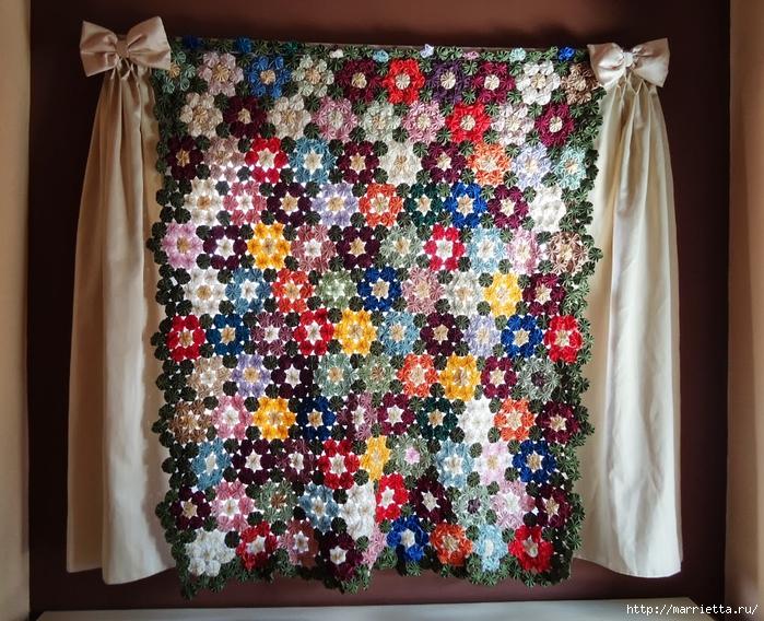 цветочки йо-йо для шторки (38) (700x568, 386Kb)