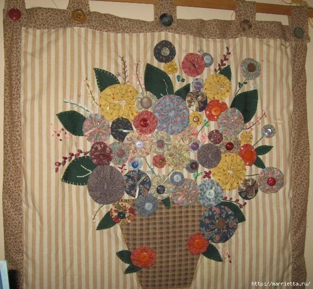 цветочки йо-йо для шторки (51) (640x592, 376Kb)
