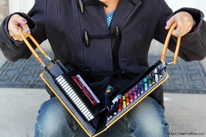 Органайзер для художника. Своими руками из книжки (1) (664x443, 191Kb)